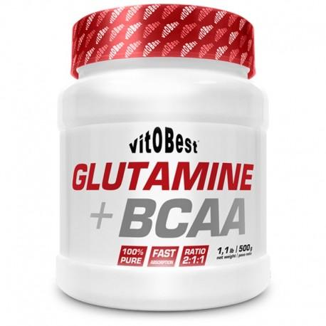 Glutamina + BCAAS 500 gr