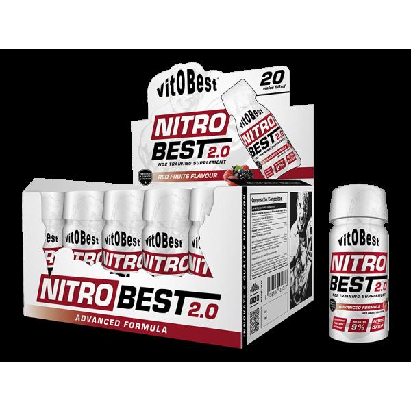 NITROBEST 2.0 - 20 viales 60 ml Frutas del bosque