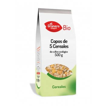 COPOS DE 5 CEREALES BIO, 500 g