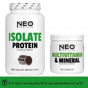 Isolate Protein 1 kg + Multivitamin & Mineral 60 caps de regalo